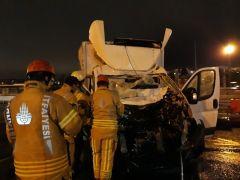 Mahmutbey gişelerde kaza: 1 yaralı