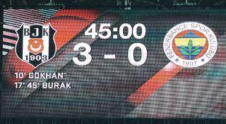 Spor Toto Süper Lig: Beşiktaş: 3 – Fenerbahçe: 3 (Maç sonucu)