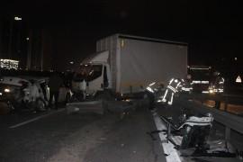 Basın ekspres yolunda trafik kazası… 3 yaralı
