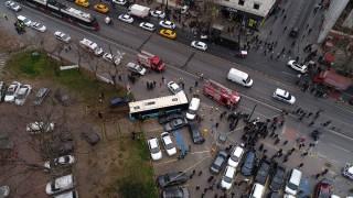 Beyazıt Meydanı'nda halk otobüsü faciası: 4 yaralı