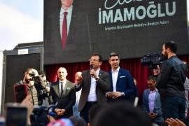 CHP'nin İstanbul adayı İmamoğlu, seçim turuna Çekmeköy'de devam etti
