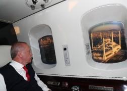 Cumhurbaşkanı Erdoğan Çamlıca Camii'ni havadan inceledi