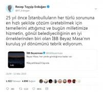 Cumhurbaşkanı Erdoğan İBB Beyaz Masa'nın 25. yılını kutladı