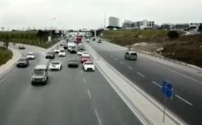 """(Özel) İstanbul'da ultra lüks otomobilli düğün konvoyunda """"drift"""" terörü"""
