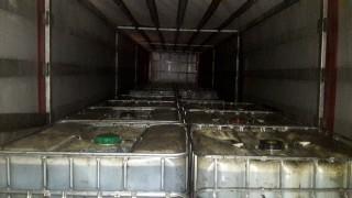 Silivri'de bir tırda 29 ton kaçak akaryakıt ele geçirildi