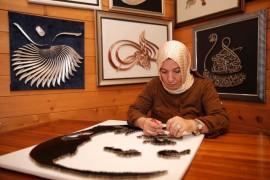 Tel ve çivi ile Cumhurbaşkanı Erdoğan'ın silüetini yaptı