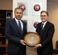 Vali Yerlikaya'dan TFF Başkanı Hüsnü Güreli'ye ziyaret