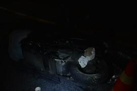 (Özel) Otomobilin kovaladığı motosikletli kaza yaptı, ardından havaya ateş ederek kaçtı