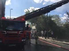Ümraniye'de gecekondu yangını