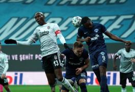 Süper Lig: Beşiktaş: 1 – Kasımpaşa: 0 (İlk yarı)