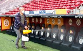 Türk Telekom Stadyumu'nda dezenfeksiyon çalışmaları yapıldı