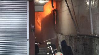 Kağıthane'de oto yıkama merkezinde çıkan yangın paniğe yol açtı
